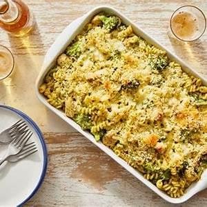 recipe-creamy-pesto-baked-chicken-noodles-with-broccoli image