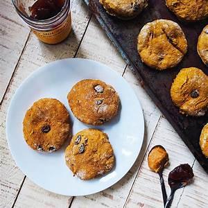 pumpkin-raisin-scones-fat-free-sugar-free-desserts image