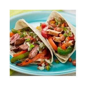 chicken-and-beef-fajitas-recipes-food-network-canada image