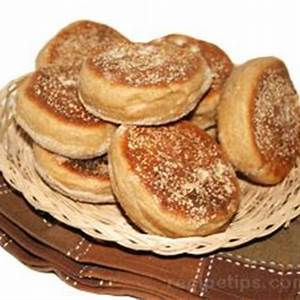 whole-wheat-english-muffins-recipe-recipetipscom image