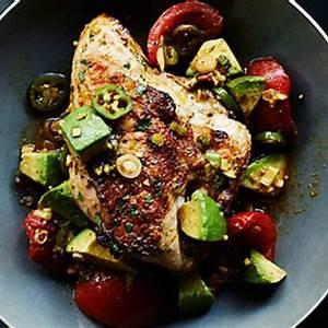 grilled-cilantro-chicken-pickled-tomato-avocado-salsa image