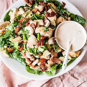 keto-chicken-bacon-spinach-salad-ketodiet-blog image