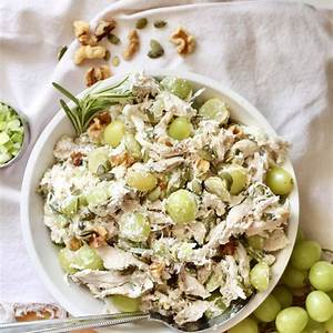 easy-chicken-salad-with-grapes-walnuts-milk image
