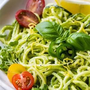 zucchini-noodles-avocado-cucumber-sauce image