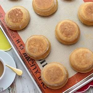 homemade-honey-wheat-english-muffins-kitchen-joy image
