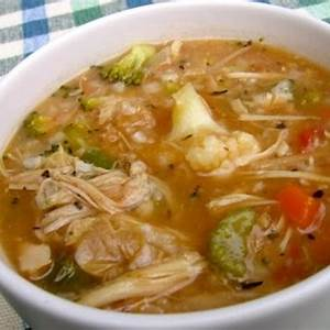 chicken-vegetable-rice-soup-recipe-simple-nourished-living image