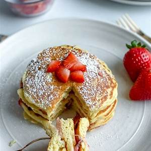 the-best-healthy-strawberry-pancake image