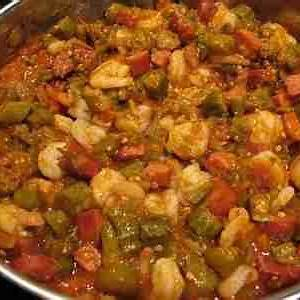 smothered-okra-tomatoes-with-shrimp image