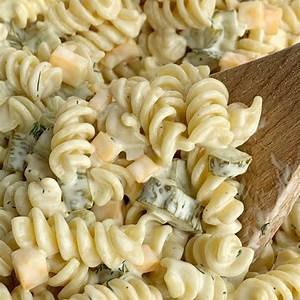 dill-pickle-pasta-salad-together-as-family image
