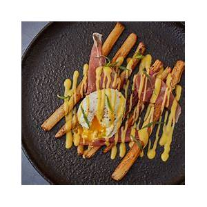 roast-salsify-with-brown-butter-hollandaise image