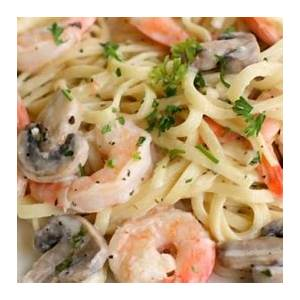 creamy-shrimp-pasta-with-mushrooms-recipe-world-cooking image