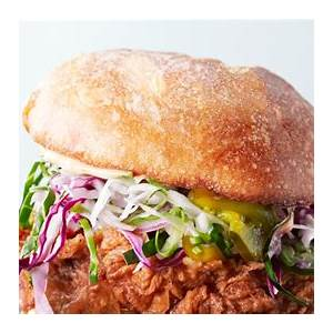 fried-chicken-sandwiches-with-slaw-and-spicy-mayo image
