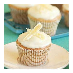 bite-size-ginger-cupcakes-with-lemon-cream-cheese-frosting image