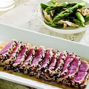 sesame-tuna-with-ginger-miso-dipping-sauce-jamie image
