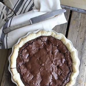 fudge-brownie-pie-a-bountiful-kitchen image