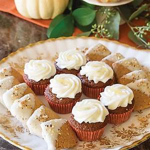 mini-gingerbread-cupcakes-with-lemon-cream-cheese-frosting image