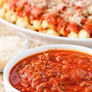 olive-garden-three-meat-sauce-copykat-recipes image