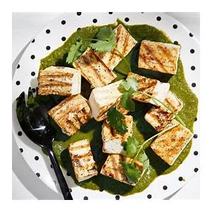 grilled-tofu-with-ginger-cilantro-sauce-the image