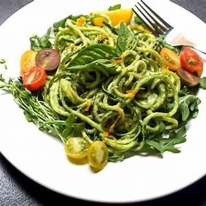 raw-zucchini-pasta-with-creamy-avocado-cucumber-sauce image