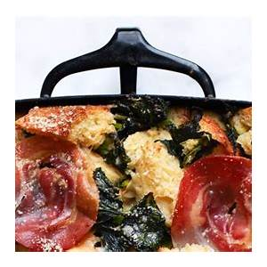 parmesan-bread-pudding-with-broccoli-rabe-and-pancetta image