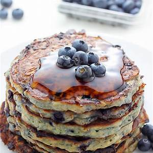 blueberry-cottage-cheese-pancakes-baker-by-nature image