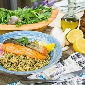 pan-seared-salmon-with-herbed-brown-rice-home-family image