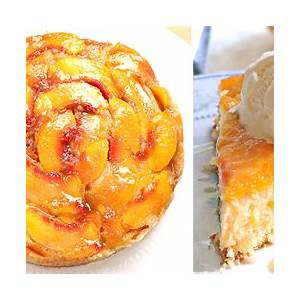 caramel-peach-upside-down-cake-cakescottage image