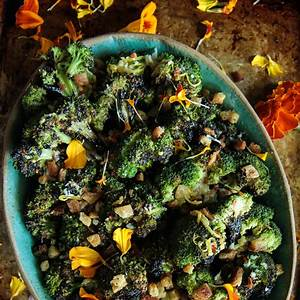 grilled-broccoli-with-spicy-lemon-vinaigrette-heather image