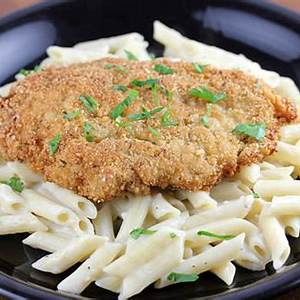 crispy-chicken-with-penne-pasta-recipe-blogchef image