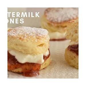 easy-soft-and-fluffy-buttermilk-scones-recipe-makes-16 image