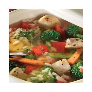 chunky-chicken-vegetable-soup-with-rice-minute-rice image