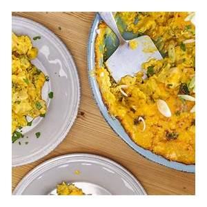 broccoli-chicken-cheddar-curry-casserole-rachael-ray-show image