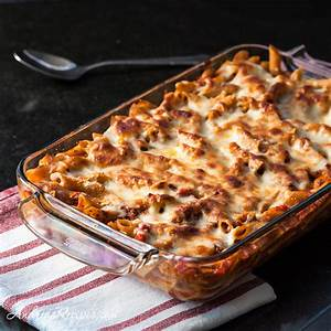 baked-penne-with-tomatoes-and-mozzarella-andrea-meyers image