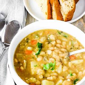 vegan-white-bean-soup-healthier-steps image