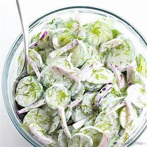 best-creamy-cucumber-salad-recipe-with-sour-cream-and-dill image
