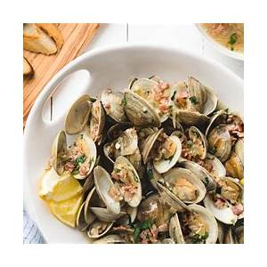 beer-steamed-clams-with-bacon-and-shallots-striped-spatula image