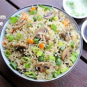 mushroom-rice-recipe-mushroom-pulav-mushroom-pilaf image