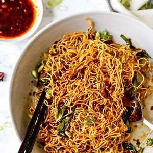 pan-fried-noodles-with-chili-crisp-pickled-plum-easy image