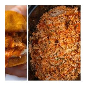 slow-cooker-buffalo-chicken-sandwiches-dinner image