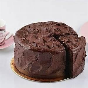 sour-cream-chocolate-cake-old-fashioned image