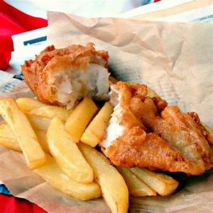 traditional-homemade-british-beer-battered-fish-and-chips image