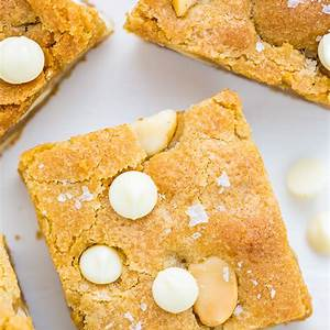 white-chocolate-macadamia-nut-cookie-bars-baker-by-nature image