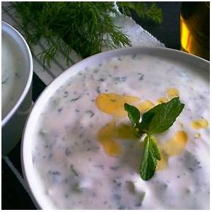 turkish-yogurt-with-cucumbers-and-herbs-cacık image