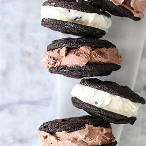 double-chocolate-chip-cookie-ice-cream-sandwiches image