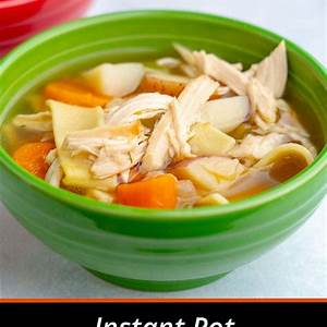 instant-pot-rotisserie-chicken-noodle-soup image