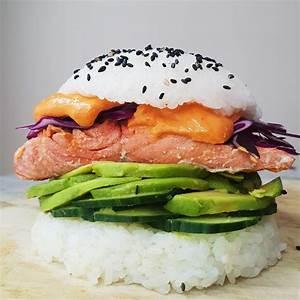 easy-spicy-salmon-sushi-burger-madeleine-shaw image