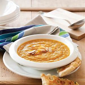 carrot-and-caraway-soup-with-toasted-almonds-healthy image