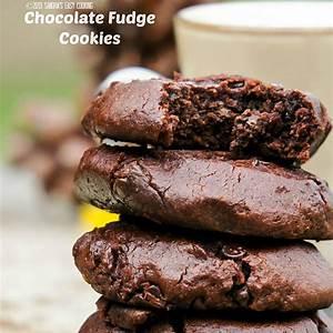 chewy-chocolate-fudge-cookies-swanky image