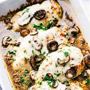 easy-baked-cheesy-mushroom-chicken-the-recipe-critic image