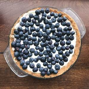 no-bake-blueberry-cream-pie-with-graham-cracker-crust image